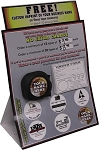 COUNTER REVOLUTION DISPLAY: Logo Branded Tape Measures