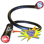 Black Mamba™ Insulated Flex Neck Flashlight with <i><u>MAGNETIC HEAD + BASE</i></u> <br>(Contractor Grade) -  PATENT PENDING</br>