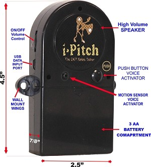 I-Pitch - Programmable Motion Activated Shelf-Pitchman. GREAT FOR Trade Shows and in-store Promotions!