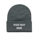 100% Acrylic Beanie - EMBROIDERED