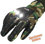 LumaGlove: SPORTSMAN - Lighted COB LED Utility Gloves<br><I>(patent pending)</i> LIMITED STOCK
